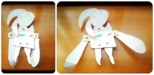 手工制作兔子纸盒
